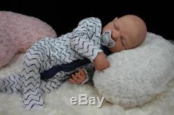 Handsome Reborn Lilly Laurens Baby Boy Doll Nubornz Nursery Painted Hair