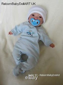 Happy AWAKE Reborn Baby BOY Doll. #RebornBabyDollArtUK