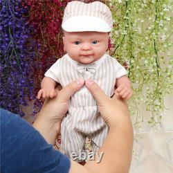 IVITA 14 Full Body Silicone Reborn Baby BOY Doll Lifelike Doll Babies+Clothes