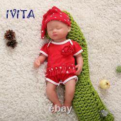 IVITA 15'' Handmade Sleeping Baby Girl Lifelike Silicone Reborn Doll Gifts1800g