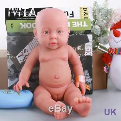 ivita 16 inch full platinum silicone reborn bady doll realistic girl