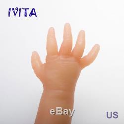 IVITA 18 inch Eyes-closed Baby Doll Girl Full Body Soft Silicone Lifelike Reborn