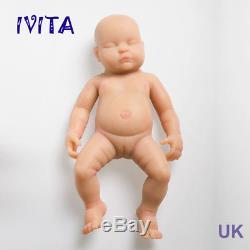IVITA 18inch Baby Eyes Closed Silicone Reborn Doll Newborn Sleeping Infant