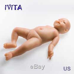 IVITA 19'' Silicone Reborn Dolls Gift Baby Dolls Newborn Baby Lifelike Toddler
