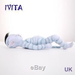 IVITA 20'' Avatar Silicone Reborn Doll Realistic Silicone Baby Girl 2900g