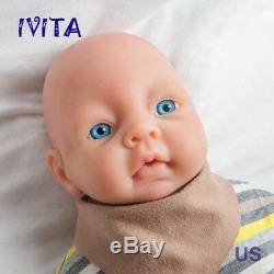 IVITA 20'' Silicone Reborn Baby Girl Doll Blue Eyes Lifelike Silicone Doll 4000g