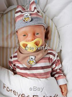 Ivita Reborn Baby Dolls 18 Inch Realistic Silicone Reborn