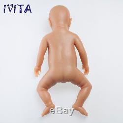 IVITA Reborn Baby GIRL 18inch 3800g Realistic Silicone Reborn Baby Teaching Doll