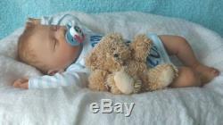 JACK Beautiful Lifelike Reborn Baby Boy 20 Doll Rooted Asleep New