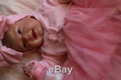 LIFELIKE DOLL REBORN HAPPY NEWBORN BABY by MARIE AT SUNBEAMBABIES GHSP