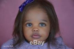 Lifelike Ethnic Reborn toddler art doll baby Maxi by Prototype artist Anna Sheva