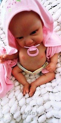 Lifelike Newborn Doll Reborn Ginger Fagan Baby & Belly Plate Sunbeambabies Ghsp