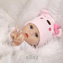 Lifelike Vinyl Silicone Reborn Newborn Dolls 22Handmade Baby Girl Doll Xmas Toy
