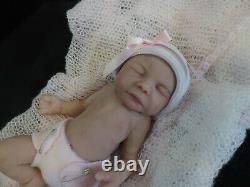 Lifelike silicone, full body, micro- preemie baby girl