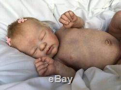 Lil Treasure Laura Lee Eagles Beautiful Reborn Baby Doll with Mohair COA