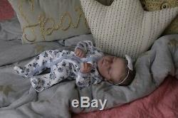 Magnolia Dream Doll Reborn baby girl Darren asleep realborn 17.5