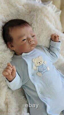 Micah Full Body Silicone Ecoflex 20 Newborn baby boy by Tasha Edenholm