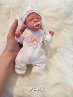 Micro Mini Full Body Silicone Baby Girl 8 Reborn Doll Lifelike