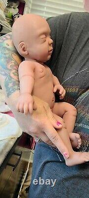 NEW 16 Preemie Full Body Silicone Baby Girl Doll Sasha