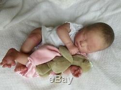 NEWBORN SLEEPING Reborn Baby GIRL Doll REALBORN LAILA Full LIMBS