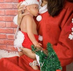 New 20 Full Body Silicone Handmade Reborn Baby Girl Lifelike Doll Gift Hot Xmas