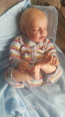 New reborn baby Boy doll NOAH asleep by Reva Schick