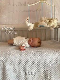 Newborn Reborn Baby Boy David (Tina Kewy) By UK Artist Sara Jeffery