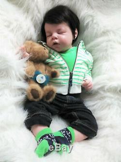 Noah Asleep Boy Reborn Doll OOAK Ready to go Home