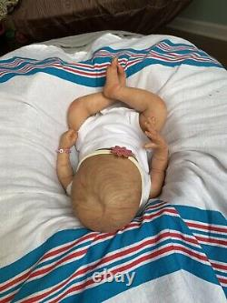 Ooak Reborn newborn baby Girl reborn baby Limited Edition Cayle Art doll