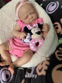 Ooak Reborn newborn baby Girl reborn baby Zoe art doll