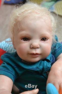 Ooak Reborn newborn baby boy reborn baby Landon Art doll