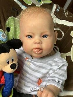 Ooak Reborn newborn baby boy reborn baby SOLE Towa Art doll