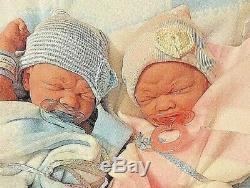 Precious Preemie Twins Babies Boy And Girl Realistic 14 Inch All Vinyl