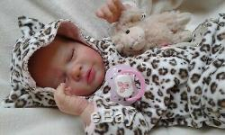 QUEEN'S CRIB OOAK REBORN BABY GIRL/BOY DOLL PRINCESS ANA! Fully rooted head