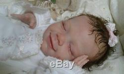 Queen's Crib Ooak Reborn Baby Girl Doll April Asleep! Sold Out
