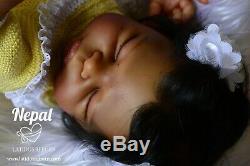 REBORN BABY DOLL NEPAL from LeeLou- Artist Irene Golden-ETHNIC BLASIAN DOLL