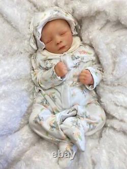 REBORN BABY GIRL ART DOLL PETER RABBIT OUTFIT UK ARTIST REALBORN SCULPT c