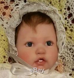 REBORN BiRacial Berenguer Baby Girl ELLIE Brown Hair Blue Eyes