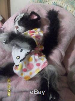 REBORN HYBRID kitty CAT DOLL OOAK KITTEN AVATAR ANIMAL MYTHICAL FANTASY TAIL