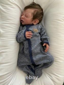 Ready to ship, full body solid silicone newborn baby boy doll Forest