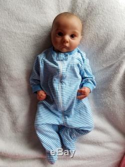 Realborn Reborn Baby Boy Asher Awake Denise Pratt Lifelike