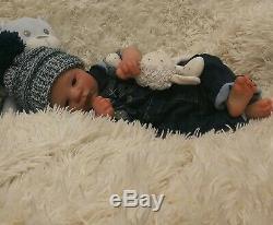Realborn baby reborn baby Lavender AWAKE boy doll