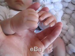 Realistic Newborn Doll Brown Eyed Baby Sunbeambabies Childs 19 New Reborn