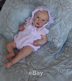 Reborn/Art Doll Saskia by bonnie brown. Girl baby. Glass Eyes