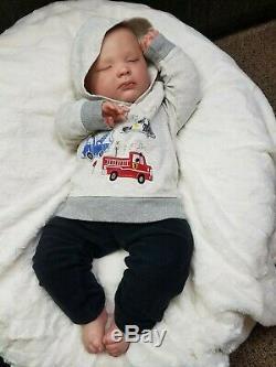 Reborn BIG Baby Boy Realborn 3 month Joseph Bountiful Baby Lifelike Doll
