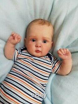 Reborn Baby Boy Joey JOCY by Olga Auer Limited Edition Realistic Newborn Doll