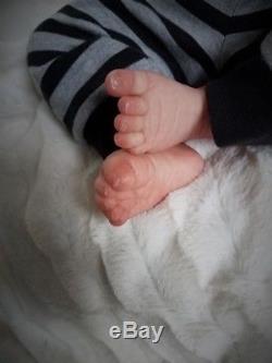 Reborn Baby Boy LUCIA Adrie Stoete Limited Edition Ultra Realistic Newborn Doll