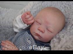 Reborn Baby Boy Realborn DOMINIC Asleep Bountiful Baby Kristina B Lifelike Doll