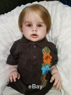 Reborn Baby Boy Toddler Prince George by Ping Lau Rare HTF Realistic Doll