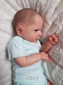 Reborn Baby Boy or Girl ETHON by Cassie Brace Painted Hair Lifelike Newborn Doll
